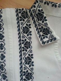 Poze MP663 Embroidery On Kurtis, Kurti Embroidery Design, Hand Embroidery Dress, Embroidery Saree, Embroidery Patterns, Cross Stitch Borders, Crochet Borders, Cross Stitching, Cross Stitch Embroidery