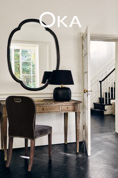 Classic and contemporary contrasts have never looked so good. Highlight those brighter backdrops with sharp silhouetted accessorises for a unique statement that makes an entrance.  Interior Inspiration, Design Inspiration, Highlight, Oversized Mirror, Backdrops, Contrast, Entryway, Bright, Interiors