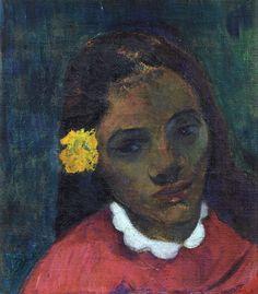 Paul Gauguin Head of a Tahitien Year 1891