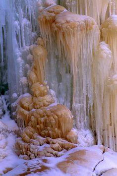 Frozen Waterfall, Apostle Islands National Lakeshore in Wisconsin