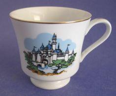 Walt Disneyland World porcelain Footed Tea Cup castle