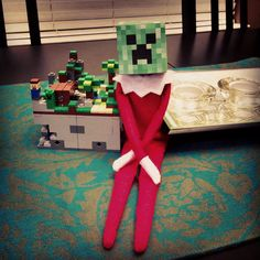 Elf Creeper mask #Elf #on #the #shelf #ideas #ElfOnTheShelf #ElfOnTheShelfIdeas #Idea #Nice #Naughty #Good #Bad #Boys #Girls #Printable #Calendars #Picture #Pictures #Photo #Photos #Coloring #Christmas #Holiday #Holidays #Traditions #Tradition #Elves #Activity #Activities #Kids #Minecraft #Creeper #Funny #Mischievous #A #Kids #Toddlers