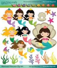 Mermaid Princess clip art