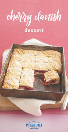 Cherry Danish Dessert – Skip the line at the bakeshop and make your own cherry Danish dessert! These tasty squares take just 15 minutes of prep—making them ideal for your breakfast or brunch table.