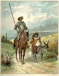El camino de Don Quijote, y su amigo Sancho
