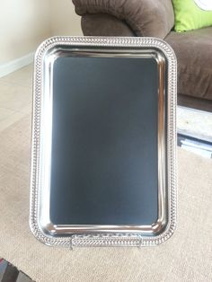 Rectangular Silver Chalkboard with Detailed by WesnersWhittles, $5.00