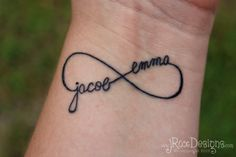 Custom Infinity Tattoo Design with Personalization Now Available in the Shop! | jRoxDesigns
