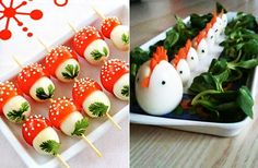 45 coole Party-Essen-Ideen und DIY-Essen-Dekorationen cool idea-for party food and appetizers-of-egg Party Snacks, Appetizers For Party, Punch Aux Fruits, Food Art For Kids, Best Party Food, Breakfast Plate, Food Carving, New Year's Food, Food Garnishes