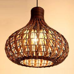 "Handmade 14"" Modern Rattan Ceiling light Lamp Living Lights Fixture Study/Living Room light Cheap whole sale US $120.00"