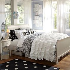 I love the Rufflicious Quilt & Sham on pbteen.com