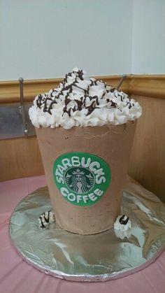 Starbucks frappuccino, coffee, hot chocolate birthday cake