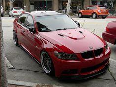 Red BMW E90
