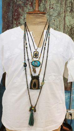 De Petra Amulets & Charms Leathermoss quartz brass by depetra, $175.00