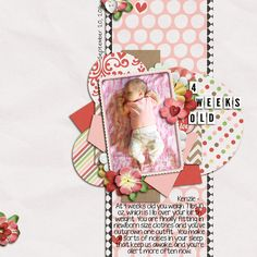 PAPER STRIP AND CIRCLES EMBELLISHMENT INSPIRATION -  4 Weeks old