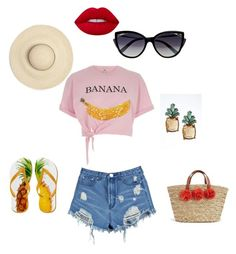 """""""Beach style"""" by explorer-14107283788 on Polyvore featuring River Island, Boohoo, La Perla, Banana Republic and Lime Crime"""