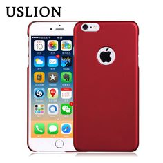 USLION For Apple iphone 6 6s 6Plus 6S Plus Ultra Thin Frosted Phone Case Luxury Protective Hard Plastic Scrub Back Cover Bags