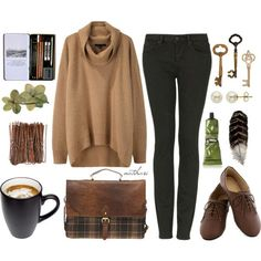 """""""Fall School Outfit"""" by natihasi on Polyvore"""