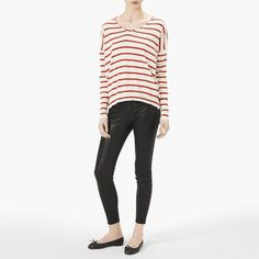 Nili Lotan Striped Cotton Sweater