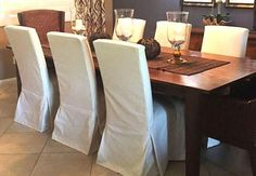 Sew A Parsons Chair Slipcovers Home Design Ideas Teal Dining Room Chairs