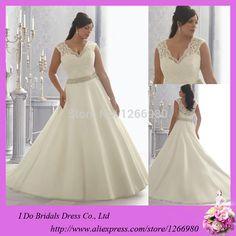 2014 Fat Size Wedding Dress A-line V Neck See Through Corset Bead Open Back Lace Applique Super Plus Size Wedding Dress Pattern