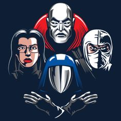 """""""Cobra Rhapsody"""" by Destro, Baroness, Storm Shadow, and Cobra Commander in the style of Queen's Bohemian Rhapsody Character Poses, Comic Character, Cobra Art, Cobra Commander, Storm Shadow, Gi Joe Cobra, Movie Poster Art, Classic Cartoons, Joker And Harley"""