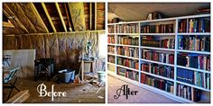 Bookshelf Transformation Alters, Bookshelves, Bookcases, Bookcase, Book Shelves, Book Stands, Shell