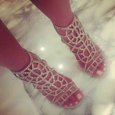 SERGIO ROSSI Embellished Puzzle Caged Sandals