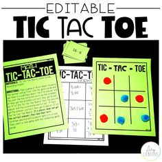 This Tic-Tac-Toe math game will be a hit with your students. Kids love it!