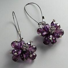 Simply Vera Vera Wang Jet Bead Flower Drop Earrings