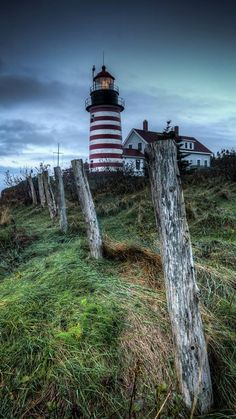 West Quoddy Light just outside of Lubec, Maine which is the eastern most town in the US.