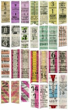 Though the contents were a collagist/ephemera-lover's dream, it was only with the utmost restraint, that I resisted the old bus ticket dispe. Vintage Labels, Vintage Ephemera, Vintage Paper, Vintage Images, Vintage Designs, Art Postal, Etiquette Vintage, Collage Sheet, Altered Art