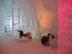 chairs in ice hotel