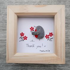 Mother's Day Pebble Picture, Mother's Day Gift, Mother's Day Present, Framed Mum's present,  Gift for Mum, Robins Pebble, kieselsteinbilder