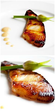 Miso Black Cod - delicious, moist, and tender black cod marinated with Japanese . - Miso Black Cod – delicious, moist, and tender black cod marinated with Japanese miso. This miso c - Cod Fish Recipes, Baked Salmon Recipes, Seafood Recipes, Asian Recipes, Cooking Recipes, Grilled Cod Recipes, Healthy Japanese Recipes, Grilling Recipes, Snack Recipes