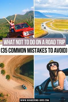What not to do on a Road Trip (35 Common Mistakes to Avoid).  Want to know what to do on a road trip? How about what NOT to do?! Here are 35 common road trip mistakes- and how to avoid them! Make your road trip planning easier immediately. Road Trip Tips | Road Trip Planning | Road Trip Mistakes | Road Trip Hacks | What to do on a Road Trip #roadtriptips #roadtriphacks #roadtripmistakes