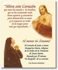 Jesús le decía que imitara lo mejor posible en la vida de dolor al Divino Maestro,aceptando ella con gratitud