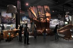 Rendering of an exhibit focusing on recovery efforts at the World Trade Center, on display at the 9/11 Museum in New York City
