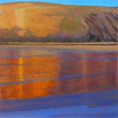 Winter light, Mawgan Porth - Tom Henderson Smith. *In unmounted print with free voucher scheme*  Original painting for sale.