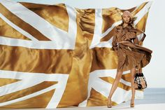 The Burberry Spring/Summer 2006 Campaign featuring model Gemma Ward, photographed by Mario Testino