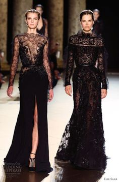 Ellie Saab Black wedding gown # black wedding dress. The left one.