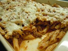Italian pasta with cheese recipes Cheesy Pasta Recipes, Cheesy Pasta Bake, Cheese Recipes, Cookbook Recipes, Cooking Recipes, Healthy Recipes, Baked Penne, Us Foods, Italian Pasta