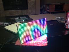 Maker creates an Arduino-powered Game of Life-style clock.  #Atmel #Arduino #Makers #MakerMovement #DIY #GameofLife