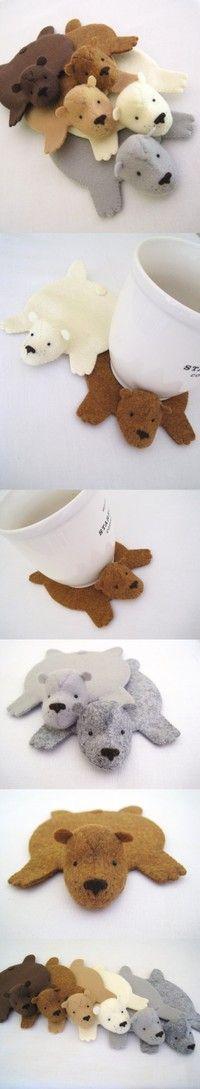 Porta copos de ursinho