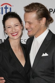 HQ Pics of Caitriona Balfe, Sam Heughan and Tobias Menzies on the Red Carpet at PaleyFest