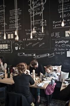 Ici restaurant, Bruxelles. (Wish my partner liked chalkboards as much as I do)