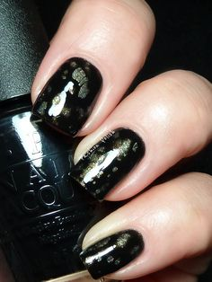OPI Black Spotted over My Number one Nemesis