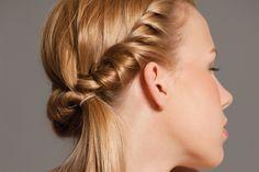 Peinado fácil: torzada cosida, paso a paso
