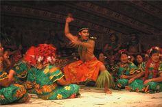 Samoan man dancing.