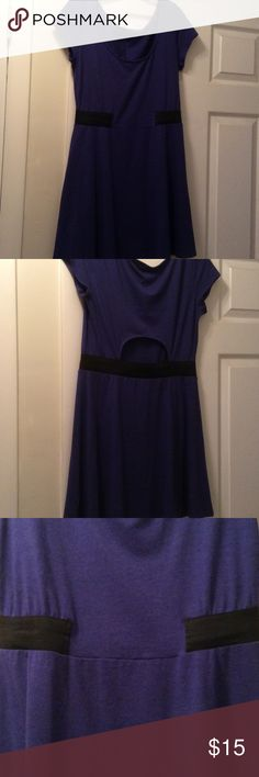 Adorable purple soft dress. NWOT Short sleeve, scoop neck, cinch waist (to define waist) and cute little cut-out at the lower back. Tried on but never worn. American Eagle Outfitters Dresses