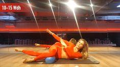 """Du willst schnell """"in shape"""" kommen? Mit diesem Pilates-Workout ist eine knackige Figur garantiert! Der Pilates-Ball ist ein tolles und preiswertes Equipment, um dein Workout noch effektiver zu gestalten. Pilates Training, Pilates Workout, Motivation, Fitness, Sports, Gain Muscle, Figurine, Hs Sports, Sport"""